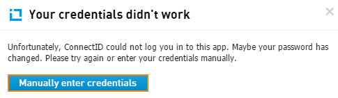 Re-enter your credentials