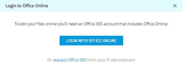 Login with Office Online