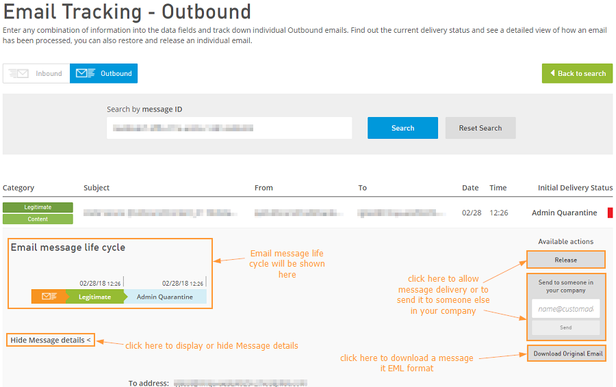 Email Tracking outbound