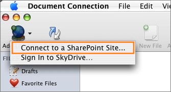 Connect to a SharePoint site
