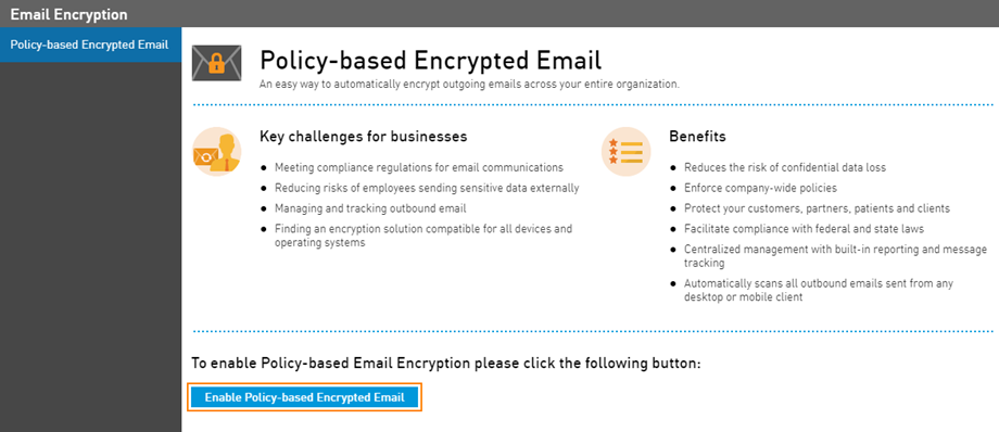 Enable Email Encryption