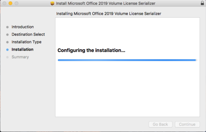 Installation process