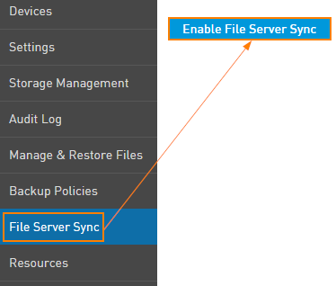 Enable File Server Sync