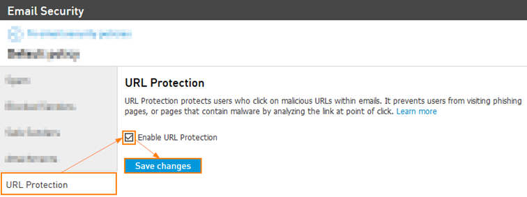 Enable URL Protection