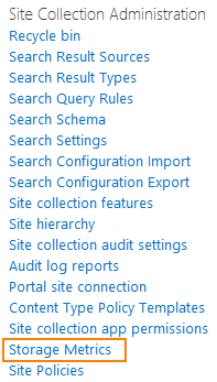 SharePoint Site Collection Administration