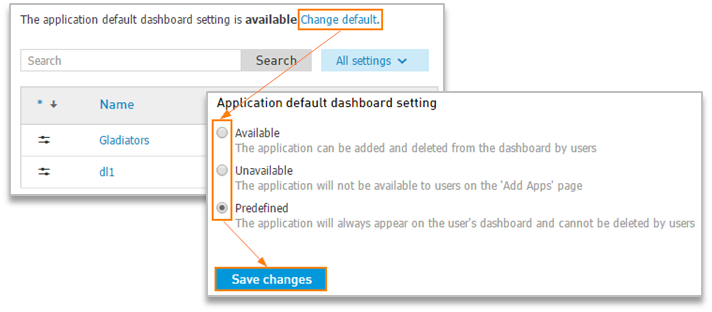 Change default