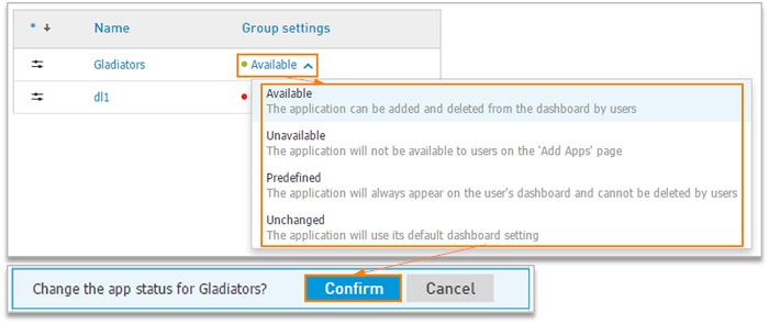 Change group settings