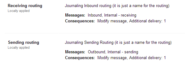 Receiving and Sending Routing